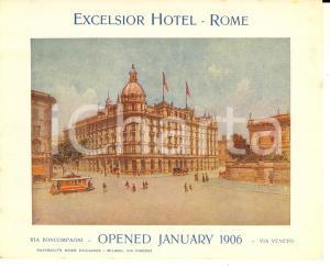 1910 ca ROMA Via BONCOMPAGNI - EXCELSIOR HOTEL *Volantino pubblicitario