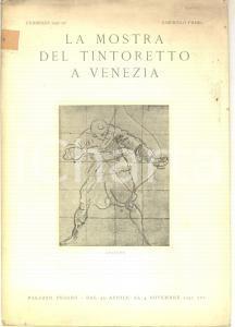 1937 VENEZIA La mostra del Tintoretto - Palazzo PESARO *Fascicolo I ILLUSTRATO