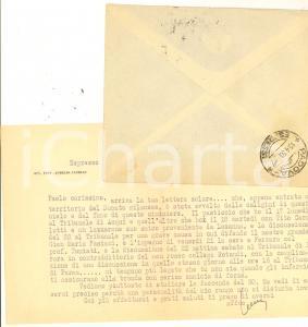 1950 MILANO Avv. Aurelio CANDIAN legato come da una camicia di forza *Autografo