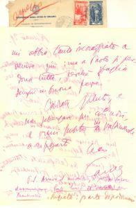 1952 RICCIONE Aurelio CANDIAN sogna di fuggire a Montecatini *Autografo