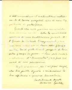 1945 PADOVA Marino GENTILE prepara studio sul materialismo cartesiano *AUTOGRAFO