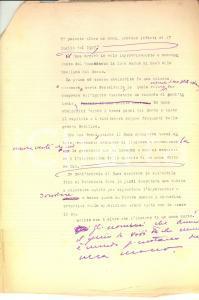 1960 ca Visita di Mussolini a Padova nel 1923: rimpianti *Dattiloscritto INEDITO