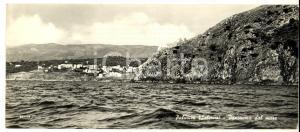 1960 ca PALINURO (SA) Panorama dal mare *Cartolina panoramica 21x10 cm