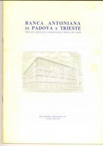 1975 BANCA ANTONIANA di PADOVA E TRIESTE - Relazione e bilancio 50 pp.