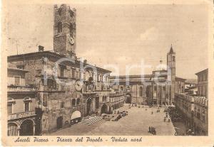 1953 ASCOLI PICENO Veduta nord di Piazza del Popolo *Cartolina FG VG