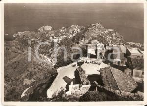 1952 CASTELMOLA (ME) Caffè San Giorgio e vista di MAZZARRO' e TAORMINA Cartolina