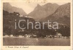 1946 SAN MAMETE - VALSOLDA (CO) Panorama del lago di Lugano *Cartolina FG VG