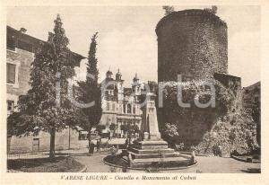 1955 ca VARESE LIGURE (SP) Castello FIESCHI  e Monumento ai Caduti *Cartolina FG