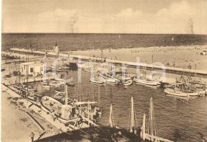 1951 RICCIONE (RN) Panorama della darsena *Cartolina FG VG