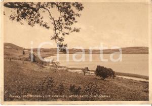 1932 ENNA Veduta del lago PERGUSA dove avvenne il Ratto delle Sabine *Cartolina