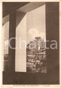 1942 ROSIGNANO MARITTIMO (LI) Scorcio del castello *Cartolina FG VG