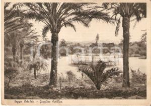 1943 REGGIO CALABRIA Panorama del giardino pubblico *Cartolina FG VG