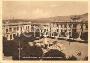 1934 REGGIO CALABRIA Veduta aerea di Piazza Vittorio Emanuele *Cartolina FG VG