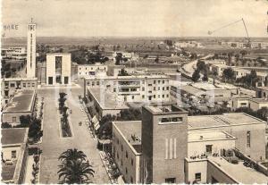 1951 SABAUDIA (LT) Panorama con chiesa Santissima Annunziata *Cartolina FG VG