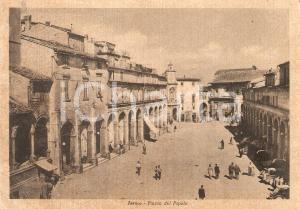 1955 FERMO Veduta aerea di Piazza del Popolo *Cartolina FG VG