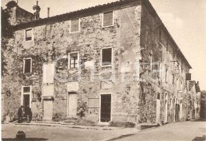 1960 ca BOLGHERI (LI) Casa di Giosuè CARDUCCI e ufficio postale Cartolina FG NV
