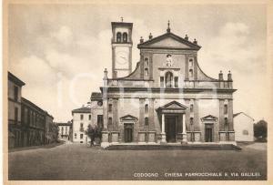 1948 CODOGNO Via Galilei e chiesa di San Biagio e Santa Maria Immacolata *FG VG
