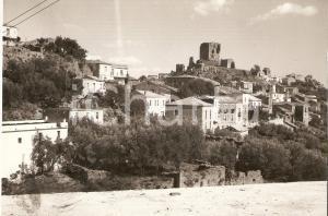 1955 BELCASTRO (CZ) Panorama con il castello dei Conti d'Aquino Cartolina FG VG