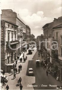 1950 ca CATANZARO Torpedone e cavallo in Corso Mazzini *Cartolina FG VG