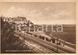 1940 ca RODI GARGANICO (FG) Panorama della spiaggia *Cartolina FG NV