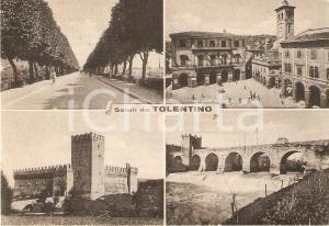 1955 TOLENTINO Vedutine con Ponte del Diavolo e viale della stazione *Cartolina