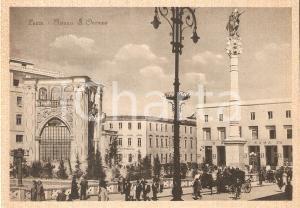 1935 ca LECCE Panorama di Piazza Sant'Oronzo *Cartolina FG NV