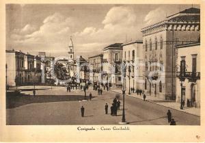 1935 ca CERIGNOLA (FG) Veduta di Corso Garibaldi *Cartolina FG NV