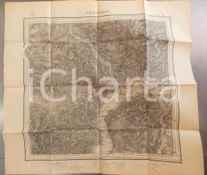 1895 Istituto Geografico Militare CARTA D'ITALIA - CANNOBIO *Mappa 70x65 cm