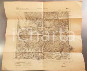 1910 ca Istituto Geografico Militare CARTA D'ITALIA - BORGO TICINO *Mappa 60x50