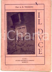 1926 ROMA A. R. VIGGIANO Il duce: conferenza *Invio AUTOGRAFO 36 pp. RARO