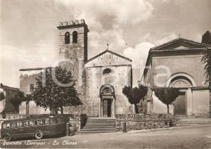1955 ca SUVERETO Autobus SITA parcheggiato davanti alla chiesa *Cartolina FG NV
