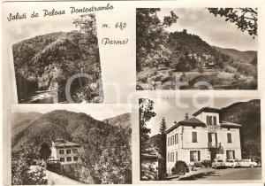 1950 ca PELOSA PONTESTRAMBO (PR) Vedutine con Trattoria BOTTINI *Cartolina FG NV