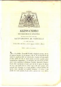1851 VERCELLI Mons. Alessandro D'ANGENNES Vita cristiana in vista del Giubileo