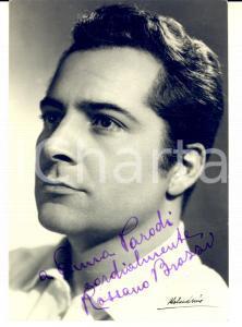1950 ca CINEMA Attore ROSSANO BRAZZI - Fotocartolina con AUTOGRAFO