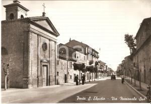 1955 ca PORTO SANT'ELPIDIO Carabinieri in posa in via Nazionale *Cartolina FG NV