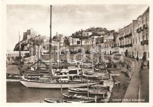 1955 ca PONZA (LT) Passeggiata in Corso Carlo Pisacane *Cartolina FG NV