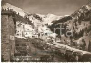 1953 FOPPOLO (BG) Autorimessa e panorama del paese *Cartolina FG VG