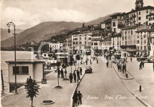 1952 LOVERE (BG) Passeggiata domenicale al porto - Lago d'Iseo *Cartolina FG VG