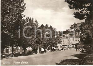 1955 ca CANELLI (AT) Panorama di Piazza Cavour - Insegna RICCADONNA *Cartolina FG NV