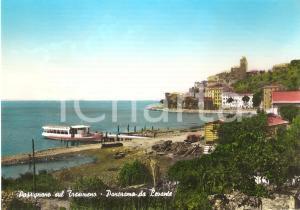 1955 ca PASSIGNANO AL TRASIMENO (PG) Panorama con battello *Cartolina FG NV