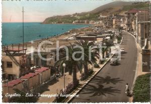 1959 COGOLETO Panorama del lungomare con stabilimenti balneari *Cartolina FG NV