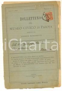 1898 Bollettino MUSEO CIVICO DI PADOVA - Doni e acquisti *Anno I n° II