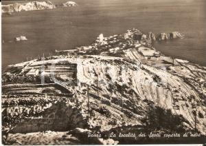 1955 ca PONZA Località dei SCOTTI coperta di neve - Panorama *Cartolina FG NV