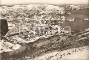 1955 ca PONZA Località dei Guarini e FRONTONE coperte di neve *Cartolina FG NV