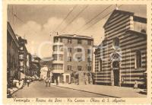 1950 ca VENTIMIGLIA (IM) Via Cavour - Chiesa di Sant'Agostino *Cartolina FG NV