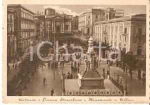 1935 ca CATANIA Piazza Stesicoro e monumento a Vincenzo BELLINI *Cartolina FG NV