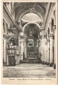 1935 ca VITTORIA (RG) Interno della Chiesa di San Giovanni Battista Cartolina FG