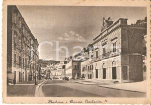 1935 ca MODICA (RG) Corso Umberto I con pompa di benzina *Cartolina FG NV