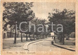1935 ca VIZZINI (CT) Panorama di Via Vittorio Emanuele *Cartolina FG NV