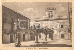 1935 ca CALATAFIMI - SEGESTA (TP) Piazza Plebiscito - Panorama *Cartolina FG NV